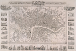 Plan of London from actual survey 1840